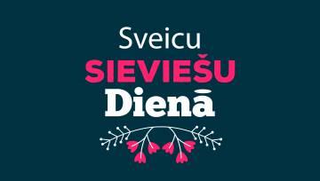 Sveicam Sieviešu dienā ( zils fons)